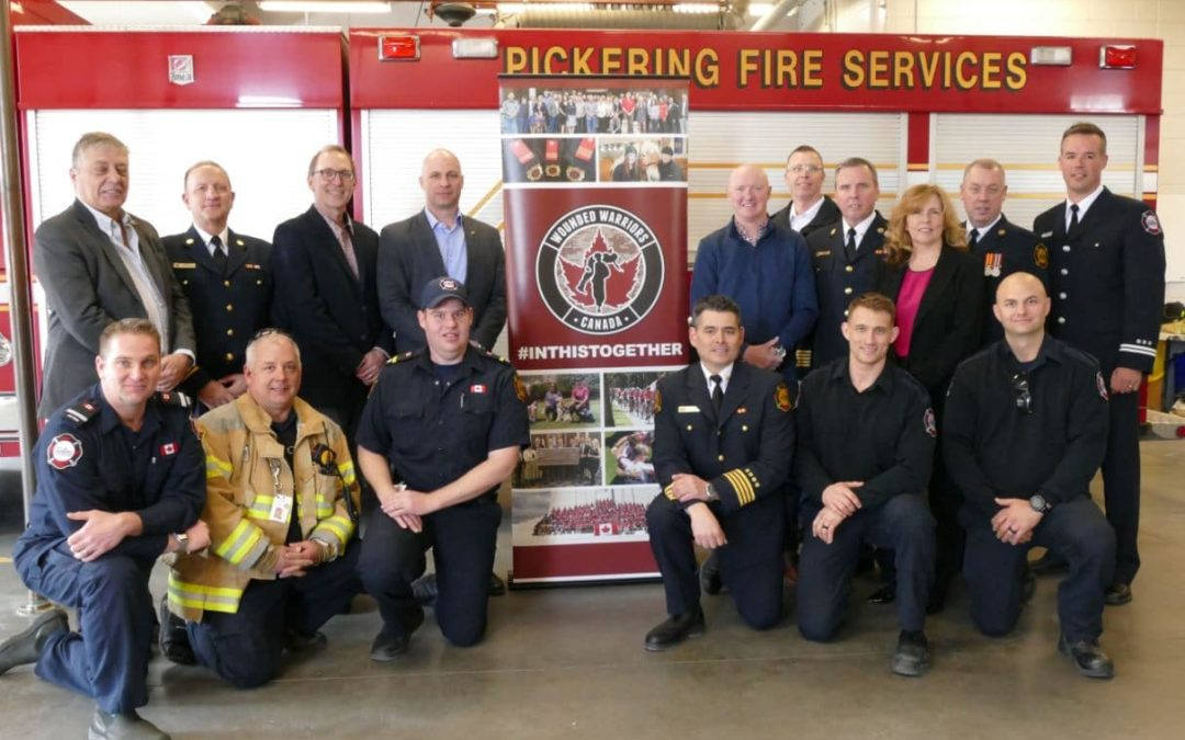 PICKERING FIRE SERVICES PARTNERS WITH WOUNDED WARRIORS CANADA