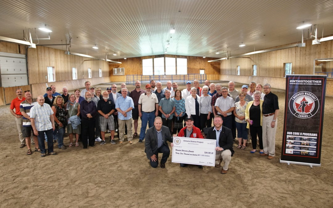 THE FREEMASONS OF ONTARIO DISTRICT RAISE $34,082 TO SUPPORT  WOUNDED WARRIORS CANADA'S PTSD EQUINE THERAPY PROGRAM