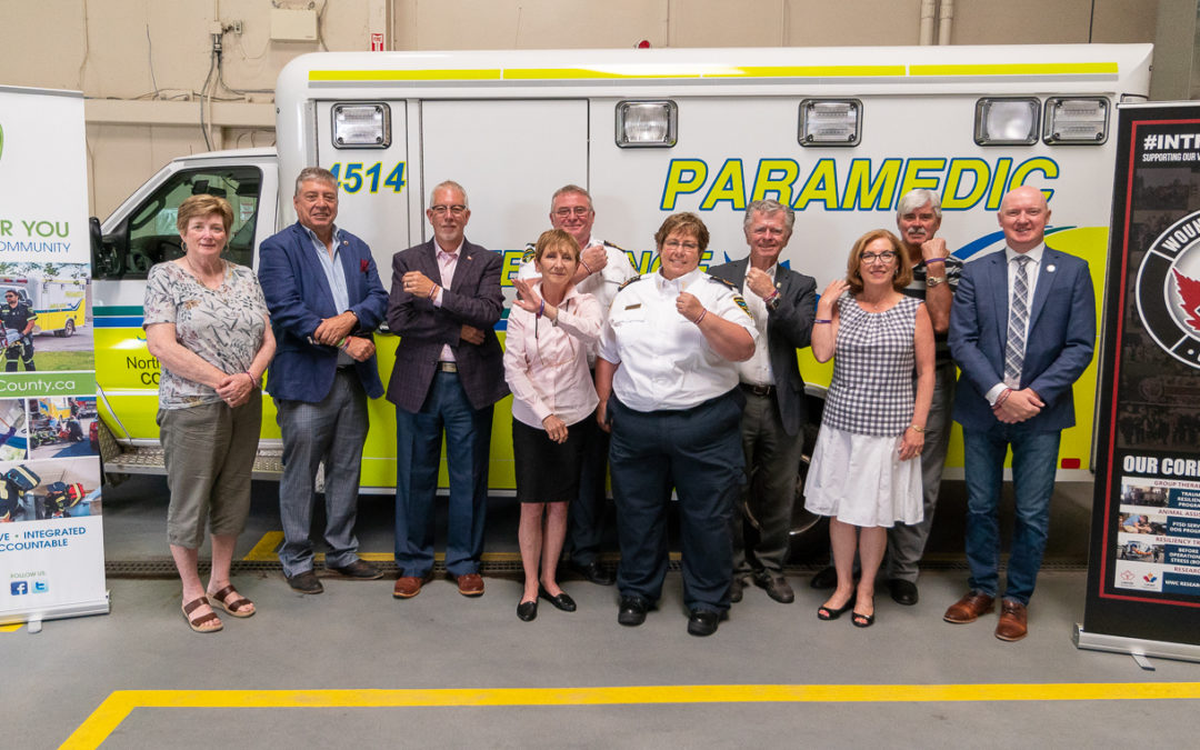 NORTHUMBERLAND PARAMEDICS PARTNERS WITH WOUNDED WARRIORS CANADA TO SUPPORT FIRST RESPONDER MENTAL HEALTH
