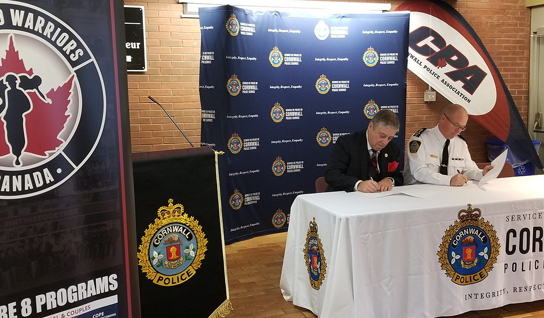 WOUNDED WARRIORS CANADA PARTNERS WITH CORNWALL POLICE SERVICE