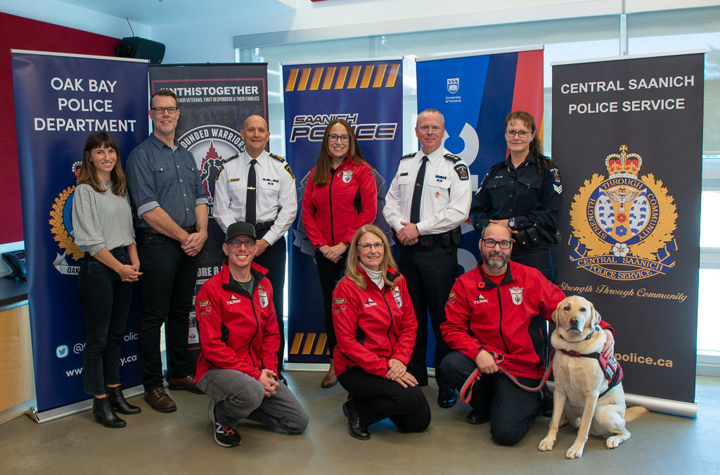 WOUNDED WARRIORS CANADA PARTNERS WITH SAANICH POLICE DEPARTMENT & THE UNIVERSITY OF VICTORIA