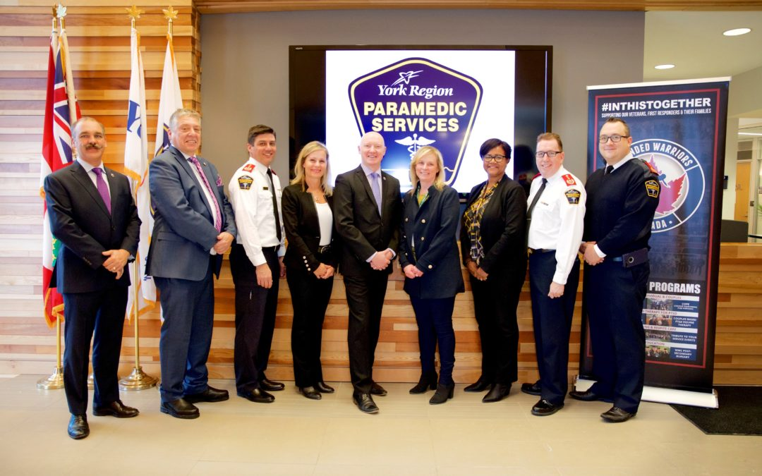 WOUNDED WARRIORS CANADA PARTNERS WITH YORK REGION PARAMEDICS
