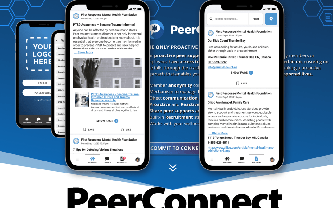 WWC PARTNERS WITH FIRST RESPONSE MENTAL HEALTH TO OFFER RESILIENCY AND PEER SUPPORT TRAINING FOR FIRST RESPONDERS THROUGH THE PEERCONNECT APP